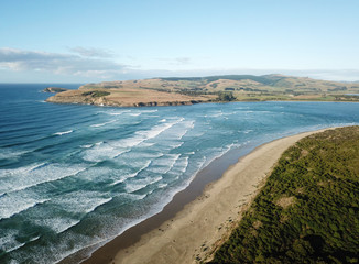 Surat Bay Aerial views, Catlins, Southland, New Zealand