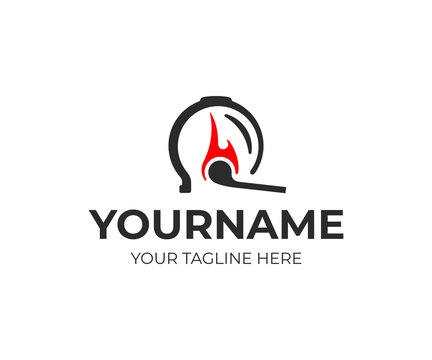Cupping therapy logo design. Fire cupping vector design. Cupping treatment on back logotype