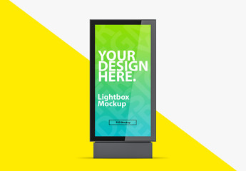Vertical Lightbox Mockup