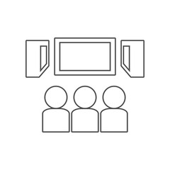 viewers in the cinema icon. Set of cinema  element icons. Premium quality graphic design. Signs and symbols collection icon for websites, web design, mobile app on white background