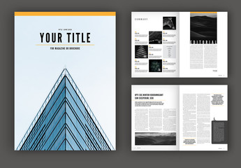 Brochure with Orange Accents