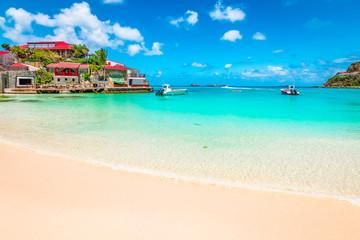 Beach in St Barts, Caribbean Sea. Wall mural