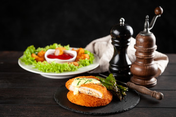 Fotoväggar - Cordon bleu and chicken nuggets