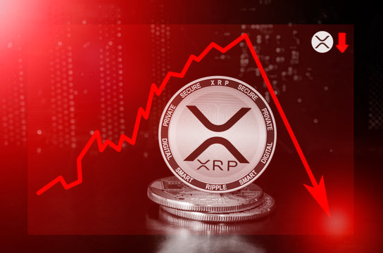 XRP cryptocurrency value price fall drop; xrp price down
