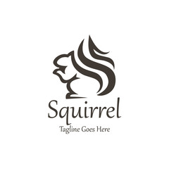 Squirrel logo design template. Vector illustration