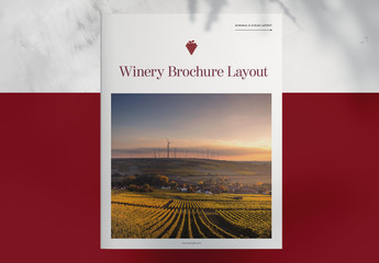 Winery Vineyard Brochure Layout