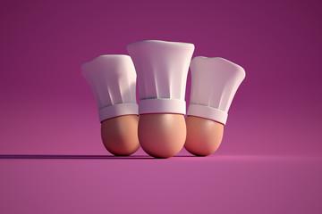 Egg cooks purple