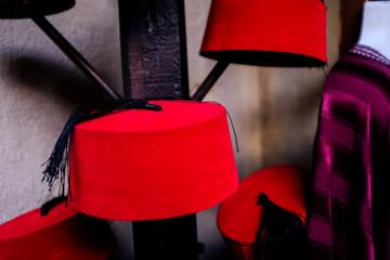 Fez Hats On A Sale Rack At Disney Epcot