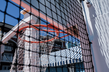 Basketball Hoop At A Themepark And Carnival