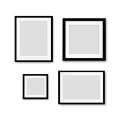 Black Picture Frame Isolated Background