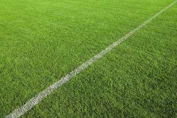 LIGNE BLANCHE SUR TERRAIN DE FOOTBALL