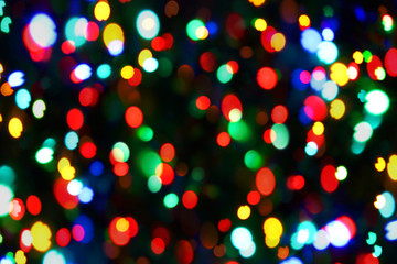 Holiday color unfocused lights