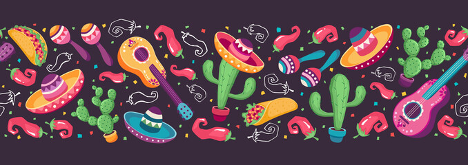 Mexican objects banner