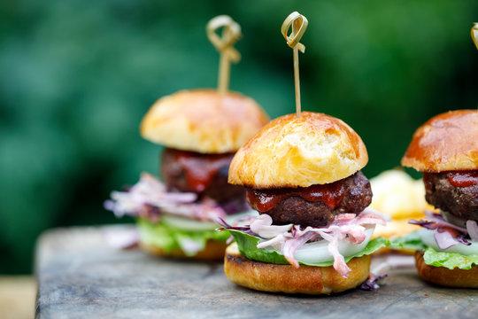 Mini brioche burger buns