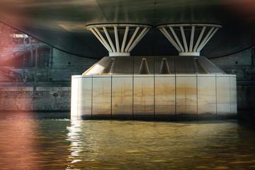 Under the modern bridges of paris