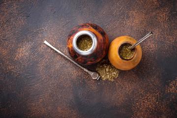 Traditional Argentina yerba mate tea