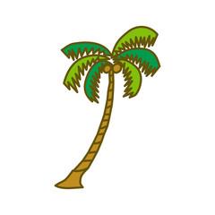 Coconut Tree Design Illustration Template Vector
