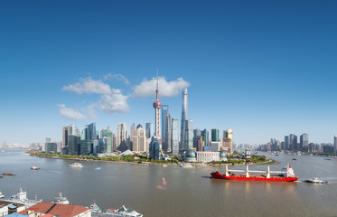 Wall Mural - shanghai skyline and cityscape