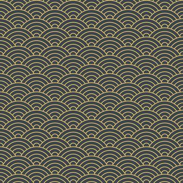 japanese geometric seamless pattern