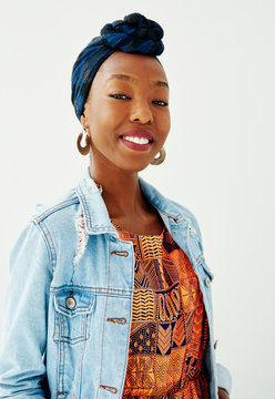 Portrait of a fashionable African woman.
