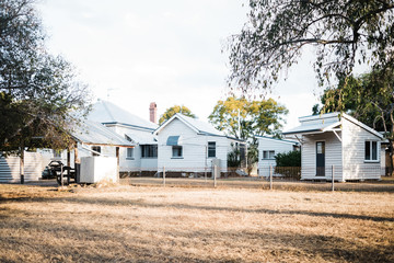 Australian homestead prior to chain wire fence removal