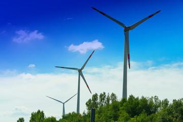 Wind turbines for renewable energies