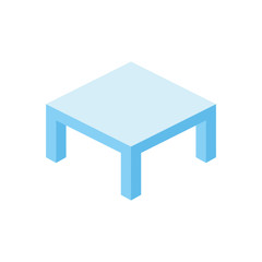 Table 3d vector illustration isometric icon