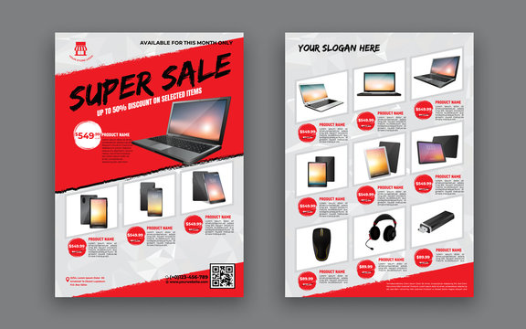 flyer template for Sale Promotion