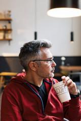 Man on coffee break