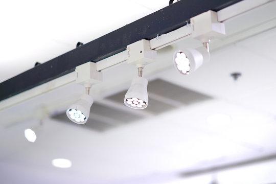 Spot light lamps installed on high bar