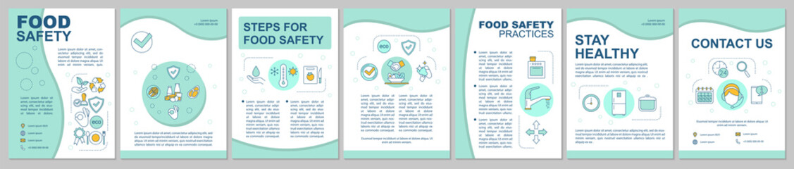 Food safety, hygiene brochure template layout