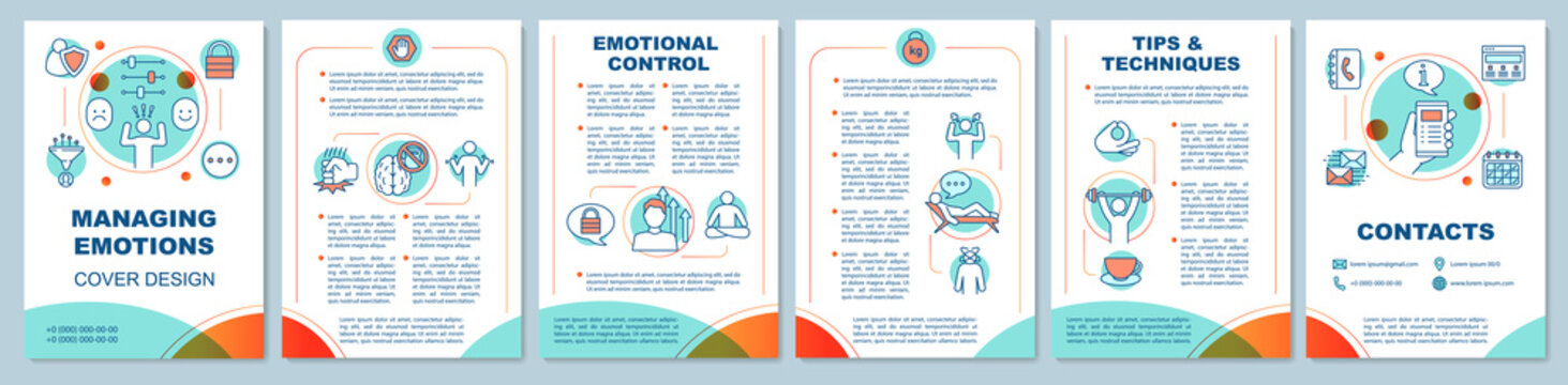 Managing emotions brochure template layout