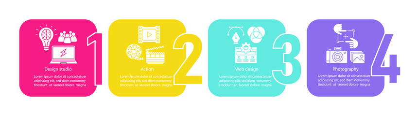 Web design vector infographic template