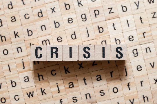 Crisis word concept