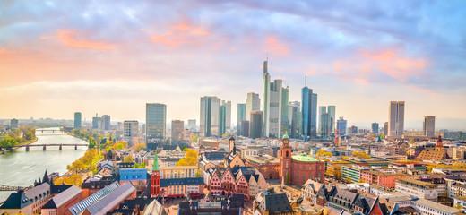 Fotomurales - View of Frankfurt city skyline in Germany