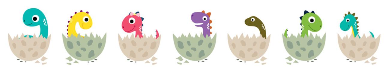Cute cartoon dinosaurs collection
