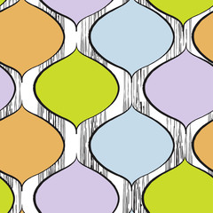 Foto auf Acrylglas Retro sign trendy seamless pattern