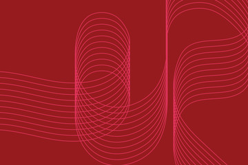 Abstract background pattern made with curvy thin lines in red and pink colors. Modern, simple, decorative vector art.