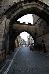 早朝のプラハ城周辺