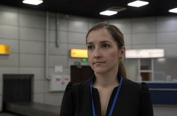 Complaints inspector Zabara works at Almaty International Airport