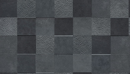 Tile wall decor facade seamless texture, mapping for 3d graphics