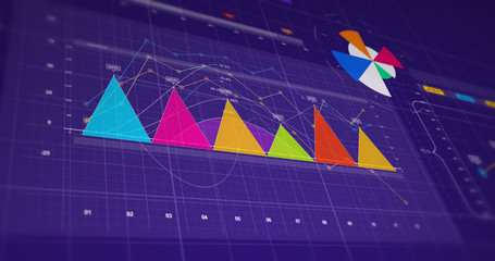Business Growth And Success Infographics 3D Illustration Render. Graphs And Charts.