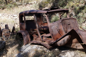 Wrecked Abandoned Car in NM Ghost Town