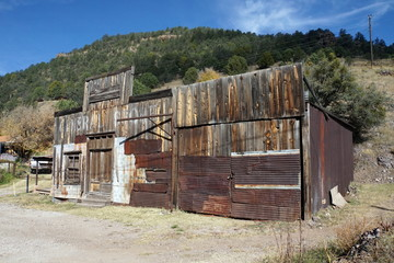 Abandoned Storefront in Mogollon, NM Ghost Town