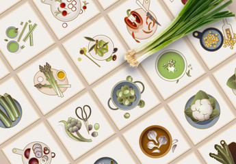 30 Colorful Vegetable Icons Layout