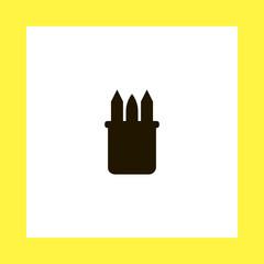 pencils vector icon. flat design