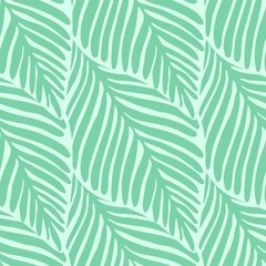 Keuken foto achterwand Tropische Bladeren Abstract green leaf seamless pattern. Exotic plant.