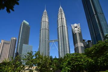 Fotobehang Kuala Lumpur Tours Petronas Kuala Lampur Malaisie