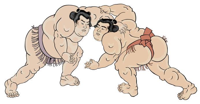 相撲絵 浮世絵 歌川国貞 黒岩重太郎 小柳常吉 白背景