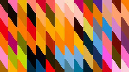Abstract Colorful Geometric Shapes Background Wall mural